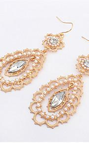 Pendiente Pendientes Gota Perla Artificial / Aleación Perla Artificial / Diamantes Sintéticos De mujeres