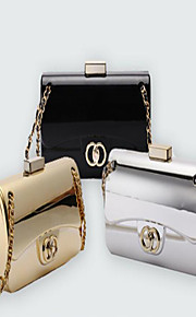 Women-Event/Party-Patent Leather-Evening Bag-Gold / Silver / Black