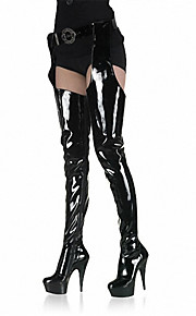 15cm sexy and waist boots/Women's Shoes Patent Leather/Fashion Boots Boots Party & Evening/Dress Stiletto Heel Zipper