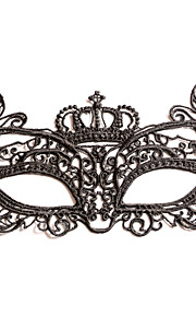 Femme Dentelle Casque-Mariage / Occasion spéciale Masques 1 Pièce Noir Irrégulier32cm x 10cm (Masks Lace rope:30 - 50CM) Fit most of