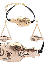 adatti europeo deriva semplice metallo amanti bottiglie collana bracciale orecchini set
