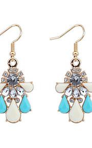Pendiente Pendientes Gota Aleación / Acrílico Diamantes Sintéticos De mujeres