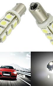 10pcs ba9s 13SMD 5050 de color blanco autos del coche LED llevó la lámpara de la bombilla (12V CC)