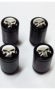 bildæk ventil cap lange knogler, tyverisikring ventilhætten, kranium mønster