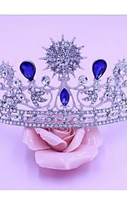 Dame Legering Headpiece-Bryllup Diademer 1 Deler Blå Pære 48cm