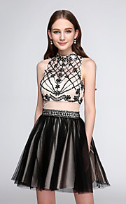 TS Couture® Cocktail Party Dress A-line High Neck Short / Mini Tulle with Beading