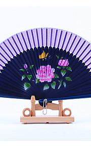 Dark Blue Fan Frame Printing Fan Random Pattern(Set of 1)