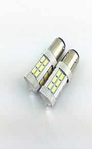 2pcs 1157 (BAY15D) 27smd 5730 4w 1000LM luci dei freni auto, luci di stop, luci di stop moto auto elettrica (12-24 V)