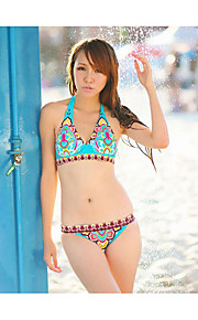 De las mujeres Bikini-GeométricoHalter-Nailon