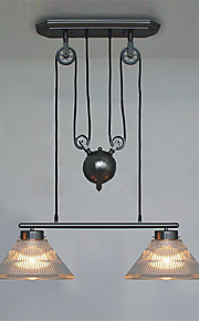 Max 60W Pendant Light ,  Vintage / Retro Painting Feature for Mini Style Metal Living Room / Bedroom / Dining Room