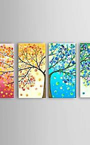 Hånd-malede Abstrakt / Landskab / Still Life / Fantasi / Blomstret/Botanisk Oliemalerier,Moderne / Parfumeret / Europæisk StilFire