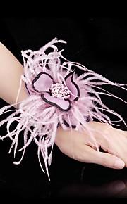 Bouquet sposa Forma libera Rose Braccialetto floreale Matrimonio Poliestere 11 cm ca.
