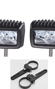 """2.5 """"van een paar beugels + high-power 2x 10W LED lichtbalk offroad rijden bar suv"""