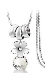 Modische Halsketten Anhängerketten Schmuck Krystall / Aleación / versilbert / vergoldet Hochzeit / Party / Alltag / NormalGoldfarben /