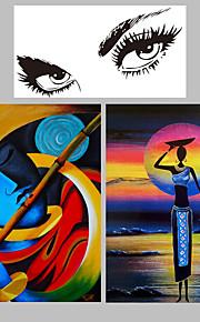 Dipinta a mano Astratto / Paesaggi Dipinti ad olio,Modern Due Pannelli Tela Hang-Dipinto ad olio For Decorazioni per la casa