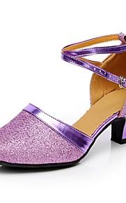 Sapatos de Dança(Marrom / Roxo / Cinza / Dourado) -Feminino-Personalizável-Moderna