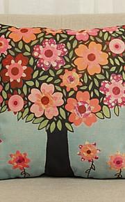 Coton/Lin Taie d'oreiller,Fleur Rustique
