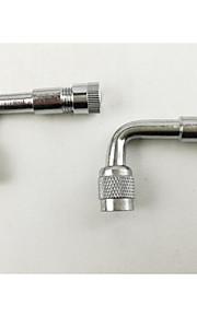 ventil munden metal forlængelse stang 4292, oppustelige rør ve36 amerikansk metal gas dyse, krom sølv