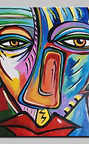 Peint à la main Célèbre / Personnage / Portraits Abstraits Peintures à l'huile,Classique Un Panneau Toile Peinture à l'huile Hang-peint