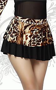 Belly Dance Bottoms Women's Performance Spandex Leopard 1 Piece Leopard Print Belly Dance Sleeveless Natural Skirt
