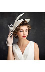 Women's Feather / Flax / Net Headpiece-Special Occasion Fascinators 1 Piece Clear Irregular 25