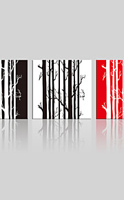 JAMMORY Canvas Set Landscape ,Three Panels Gallery Wrapped, Ready To Hang Vertical Print No Frame Trunk Branches