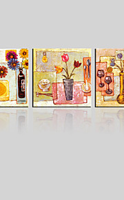 JAMMORY Canvas Set Landscape ,Three Panels Gallery Wrapped, Ready To Hang Vertical Print No Frame Simple Painting Scene