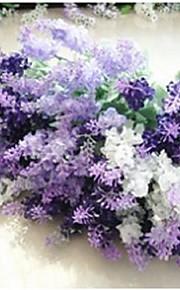 "Bouquets de Noiva Forma-Livre Lavanda Decorações Casamento Poliéster 0.78""(Aprox.2cm)"