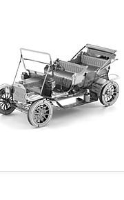 Palapelit 3D palapeli Rakennuspalikoita DIY lelut Auto 1 Metalli Vaaleanpunainen peli lelu