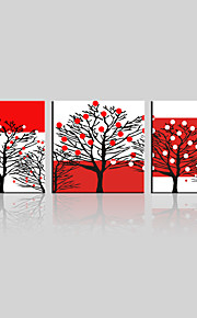 JAMMORY Canvas Set Landscape ,Three Panels Gallery Wrapped, Ready To Hang Vertical Print No Frame Small Tree