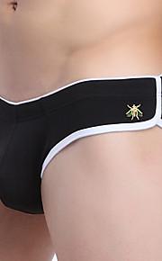 Men's Cotton / Nylon Solid Breathable Briefs Underwear