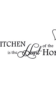 Kitchen Heart Love English Quotations Wall Stickers DIY Fashion Kitchen Wall Decals Home Decoration