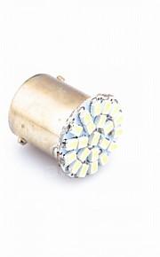 10pcs 1.5W 1156,1157 P21W 22smd 1206 lampade cuocere indicatori di direzione luci bianche rosse BA15S DC12V gialle