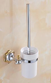 トイレブラシホルダー / 浴室小物 / ミラーポリッシュ仕上げ / ウォールマウント /7.7*4.9*14.96 inch /真鍮 /モダン /19.5cm 12.5cm 1.1KG