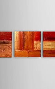 Hånd-malede Abstrakt / Landskab / Still Life / Afslapning Oliemalerier,Moderne / Parfumeret / Europæisk Stil Tre Paneler Canvas