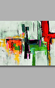 Stretched (Ready to hang) Hand-Painted Oil Painting 90cmx60cm Canvas Wall Art Modern Abstract Green Red
