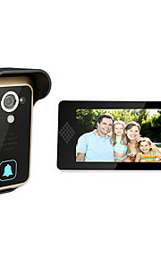 intelligent visuel højttaler-telefon 7 tommer hd dørklokken