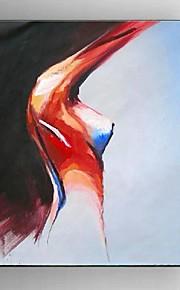 Dipinta a mano Astratto / Ritratti / Natura morta / Carne Dipinti ad olio,Modern / Stile europeo Un Pannello Tela Hang-Dipinto ad olioFor