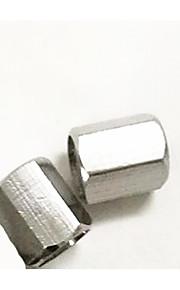 neumático de automóvil tapa de la válvula de cobre y cromo hexagonal