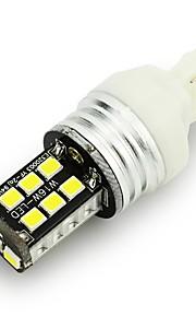 2pcs T20 / 1156 del coche 2835 15smd llevó canbus dobles polares libre de la lámpara de la luz de freno de error CC 12V luces de marcha
