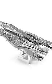 Rompecabezas juguete de la novedad / Puzzles de Metal Bloques de construcción Juguetes de bricolaje Portaaviones / Aeronave 1 Metal Plata