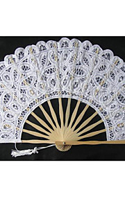 Noble Graceful Cotton Flower Edge Fan