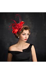 Women's Feather / Flax / Net Headpiece-Special Occasion Fascinators 1 Piece Clear Irregular 15