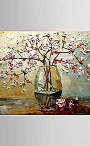 Hand-Painted Modern Flower Thick Knife Oil Painting on Canvas Wall Art Contempory Color Home Deco Ready to Hang