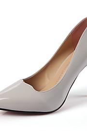 Homme-Mariage / Bureau & Travail / Décontracté-Noir / Rose / Gris-Talon Aiguille-Bout Pointu-Chaussures à Talons-Similicuir