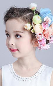 Flower Girl's Basketwork / Fabric Headpiece-Wedding / Special Occasion Flowers 1 Piece