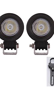 2x 10W overstroming geleid lichtbalk atv suv truck treedozer lamp met een paar montagebeugels 1inch
