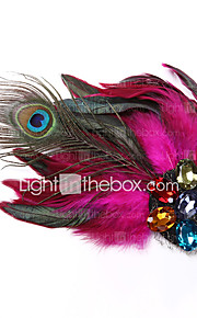 Women's Feather / Acrylic Headpiece-Wedding / Special Occasion / Casual Fascinators 1 Piece
