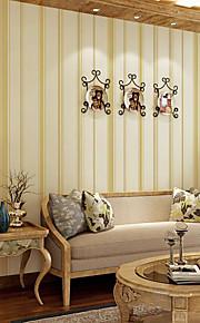 Simple Mediterranean Vertical Stripes Wallpaper Living Room Tv Sofa Home Decor Modern Striped Wallpapers