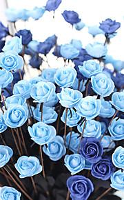 1 1 ענף פוליאסטר ורדים פרחים לשולחן פרחים מלאכותיים 50